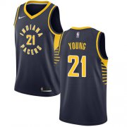 Wholesale Cheap Nike Pacers #21 Thaddeus Young Navy Blue NBA Swingman Icon Edition Jersey
