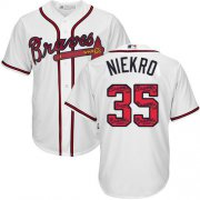 Wholesale Cheap Braves #35 Phil Niekro White Team Logo Fashion Stitched MLB Jersey