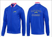 Wholesale NFL Los Angeles Chargers Heart Jacket Blue_1
