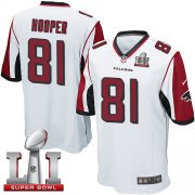 Wholesale Cheap Nike Falcons #81 Austin Hooper White Super Bowl LI 51 Youth Stitched NFL Elite Jersey