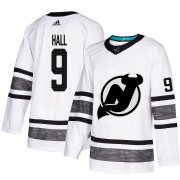 Wholesale Cheap Adidas Devils #9 Taylor Hall White Authentic 2019 All-Star Stitched NHL Jersey