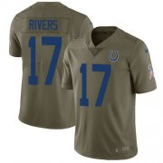 Wholesale Cheap Nike Colts #17 Philip Rivers Olive Youth Stitched NFL Limited 2017 Salute To Service Jersey
