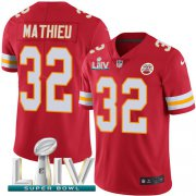 Wholesale Cheap Nike Chiefs #32 Tyrann Mathieu Red Super Bowl LIV 2020 Team Color Youth Stitched NFL Vapor Untouchable Limited Jersey