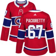 Wholesale Cheap Adidas Canadiens #67 Max Pacioretty Red Home Authentic Women's Stitched NHL Jersey