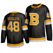 Wholesale Cheap Adidas Boston Bruins #48 Matt Grzelcyk Black 2019-20 Authentic Third Stitched NHL Jersey