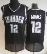 Wholesale Cheap Oklahoma City Thunder #12 Steven Adams Black With White Swingman Jersey