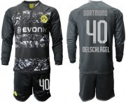 Wholesale Cheap Dortmund #40 Oelschlagel Away Long Sleeves Soccer Club Jersey
