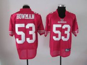 Wholesale Cheap 49ers #53 NaVorro Bowman Red Stitched NFL Jersey