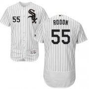 Wholesale Cheap White Sox #55 Carlos Rodon White(Black Strip) Flexbase Authentic Collection Stitched MLB Jersey