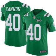 Wholesale Cheap Nike Jets #40 Trenton Cannon Green Men's Stitched NFL Limited Rush Jersey