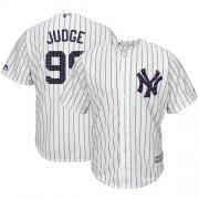 Wholesale Cheap Yankees #99 Aaron Judge White Strip New Cool Base 2018 Stars & Stripes Stitched MLB Jersey