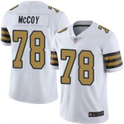 Wholesale Cheap Nike Saints #78 Erik McCoy White Men's Stitched NFL Limited Rush Jersey