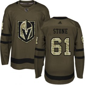 Wholesale Cheap Adidas Golden Knights #61 Mark Stone Green Salute to Service Stitched NHL Jersey