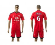 Wholesale Cheap Lyon #6 Fofana Away Soccer Club Jersey