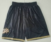 Wholesale Cheap Men's Philadelphia 76ers Black 2000-01 Hardwood Classics Soul Swingman Throwback Shorts