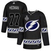 Wholesale Cheap Adidas Lightning #77 Victor Hedman Black Authentic Team Logo Fashion 2020 Stanley Cup Final Stitched NHL Jersey
