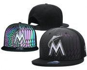 Wholesale Cheap Miami Marlins Snapback Ajustable Cap Hat GS