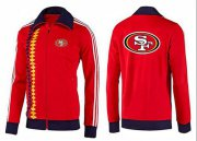 Wholesale Cheap NFL San Francisco 49ers Team Logo Jacket Red_2