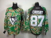 Wholesale Cheap Penguins #87 Sidney Crosby Camo Veterans Day Practice Stitched NHL Jersey