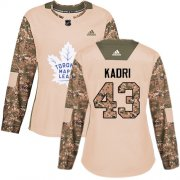 Wholesale Cheap Adidas Maple Leafs #43 Nazem Kadri Camo Authentic 2017 Veterans Day Women's Stitched NHL Jersey