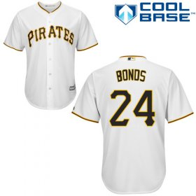 Wholesale Cheap Pirates #24 Barry Bonds White Cool Base Stitched Youth MLB Jersey