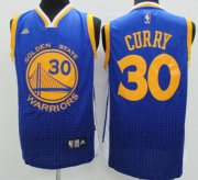 Wholesale Cheap Golden State Warriors #30 Stephen Curry Blue Resonate Fashion Jersey