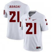 Wholesale Cheap Washington State Cougars 21 Max Borghi White College Football Jersey