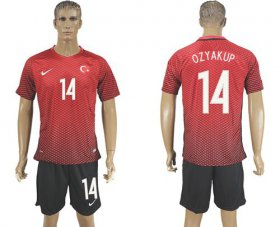 Wholesale Cheap Turkey #14 Ozyakup Home Soccer Country Jersey