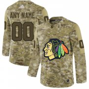 Wholesale Cheap Men's Adidas Blackhawks Personalized Camo Authentic NHL Jersey