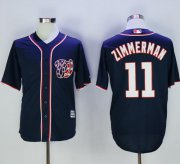 Wholesale Cheap Nationals #11 Ryan Zimmerman Navy Blue New Cool Base Stitched MLB Jersey