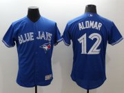 Wholesale Cheap Blue Jays #12 Roberto Alomar Blue Flexbase Authentic Collection Stitched MLB Jersey