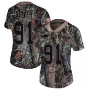 Wholesale Cheap Nike Bills #91 Ed Oliver Camo Women's Stitched NFL Limited Rush Realtree Jersey