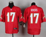 Wholesale Cheap Nike Chargers #17 Philip Rivers Red Men's Stitched NFL Elite QB Practice Jersey
