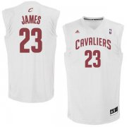 Wholesale Cheap Cleveland Cavaliers #23 LeBron James White Fashion Replica Jersey