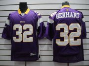 Wholesale Cheap Vikings #32 Toby Gerhart Purple Stitched NFL Jersey