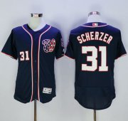Wholesale Cheap Nationals #31 Max Scherzer Navy Blue Flexbase Authentic Collection Stitched MLB Jersey