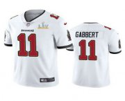 Wholesale Cheap Men's Tampa Bay Buccaneers #11 Blaine Gabbert White 2021 Super Bowl LV Limited Stitched NFL Jersey