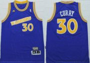 Wholesale Cheap Golden State Warrlors #30 Stephen Curry Blue Throwback Stitched NBA Jersey