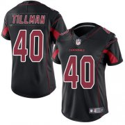 Wholesale Cheap Nike Cardinals #40 Pat Tillman Black Women's Stitched NFL Limited Rush Jersey