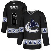 Wholesale Cheap Adidas Canucks #6 Brock Boeser Black Authentic Team Logo Fashion Stitched NHL Jersey