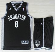 Wholesale Cheap Brooklyn Nets 8 Deron Williams Black Revolution 30 Swingman Jerseys Shorts NBA Suits