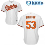 Wholesale Cheap Orioles #53 Zach Britton White Cool Base Stitched Youth MLB Jersey