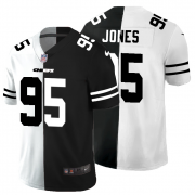 Cheap Kansas City Chiefs #95 Chris Jones Men's Black V White Peace Split Nike Vapor Untouchable Limited NFL Jersey