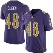 Wholesale Cheap Nike Ravens #48 Patrick Queen Purple Men's Stitched NFL Limited Rush Jersey
