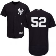 Wholesale Cheap Yankees #52 C.C. Sabathia Navy Blue Flexbase Authentic Collection Stitched MLB Jersey