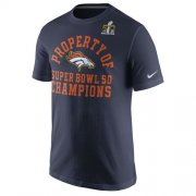 Wholesale Cheap Denver Broncos Nike Celebration Property of Super Bowl 50 Champions T-Shirt Navy