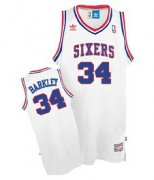 Wholesale Cheap Philadelphia 76ers #34 Charles Barkley White Swingman Throwback Jersey