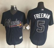 Wholesale Cheap Braves #5 Freddie Freeman Blue New Cool Base Stitched MLB Jersey