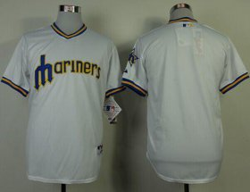 Wholesale Cheap Mariners Blank White 1979 Turn Back The Clock Stitched MLB Jersey