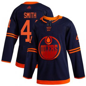 Wholesale Cheap Adidas Oilers #41 Mike Smith Navy Alternate Authentic Stitched Youth NHL Jersey